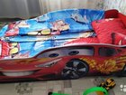 Детская кровать-машина Формула с матрацем