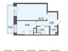 Продается 1-ком квартира . Квартира расположена на 7 этаже 6