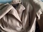 Скачать бесплатно foto  Женская легкая куртка, размер 44, цвет бежевый, на подкладе, Молнии на застежке и рукавах,искусственная замша, короткая, 69829354 в Бийске