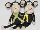 Мартышки обезьянки вязаная игрушка