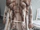 Смотреть изображение Женская одежда Новая норковая шуба, Мех - стриженая норка, воротник и рукава - соболь 71887758 в Челябинске