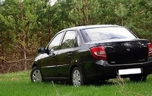 Гранта 2013 г, чёрная, мех, пробег 3400км