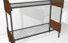 Двохьярусные и одноярусные металлические кровати для хостелов