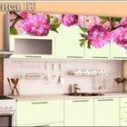 Кухня с фотопечатью цветы