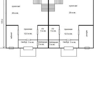 Фотография в Недвижимость Продажа квартир Продается таунхаус 115 кв. м, на участке в Дмитрове 4400000