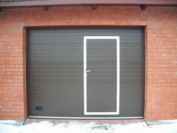 ворота секционные гаражные купить и установить в екатеринбурге