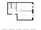 Продаётся 1-комн. квартира площадью 42,4 кв.м на 16 этаже 24
