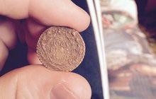 Монета Полушка 1730г