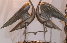 Скульптурная композиция из металла Танец журавлей