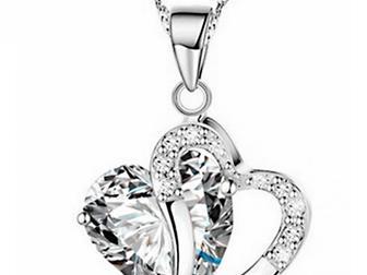Увидеть фотографию Ювелирные изделия и украшения Ожерелье для женщин в форме сердца 68054188 в Липецке