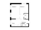 Продается 2-комн. кв-ра площадью 45.9 кв.м, 13 этаж 17-этажн