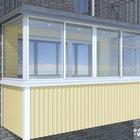 Остекление на балкон 3,33x1,4 Без предоплаты