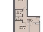 Продам: 2 комн. квартира, 55.7 м2., с отделкой. Жилая площад