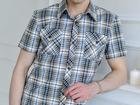 Смотреть фотографию  Мужская рубашка в клетку для работы и отдыха от производителя, 59466801 в Якутске