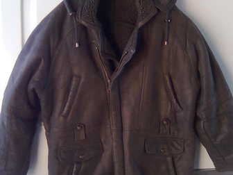 Свежее фото Женская одежда Куртка мужская зимняя, кожаная с отстегивающимся капюшоном, Корея 33333175 в Энгельсе