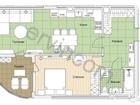 Предлагаем 1-комнатную квартиру 59,2 кв.м., расположенную на