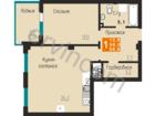 Предлагаем однокомнатную квартиру общей площадью 58,8 кв.м.