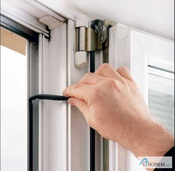 Замена уплотнения на пластиковых окнах