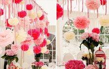 Оформление банкетов, свадеб бумажными цветами