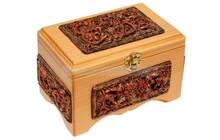 Эко сувениры из кедропласта, Шкатулка Таежный узор