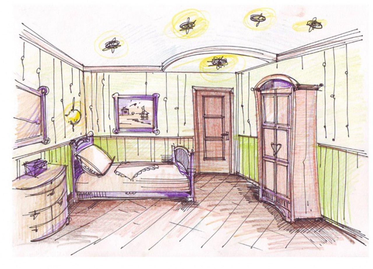 Схемы рисунков детских комнат