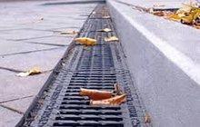 Лотки водоотводные с чугунной царгой DN200 бетонные
