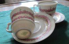 Пара фарфоровых кофейных чашек с блюдцами
