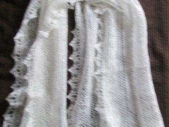 Смотреть изображение Разное Оренбургский пуховый шарф белый, фабричный 33811361 в Краснодаре