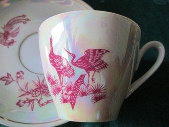Скачать бесплатно фото  Пара антикварных фарфоровых кофейных чашек «Жар-птица» с блюдцами, Oscar Schlegelmilch, Германия, 33989346 в Краснодаре