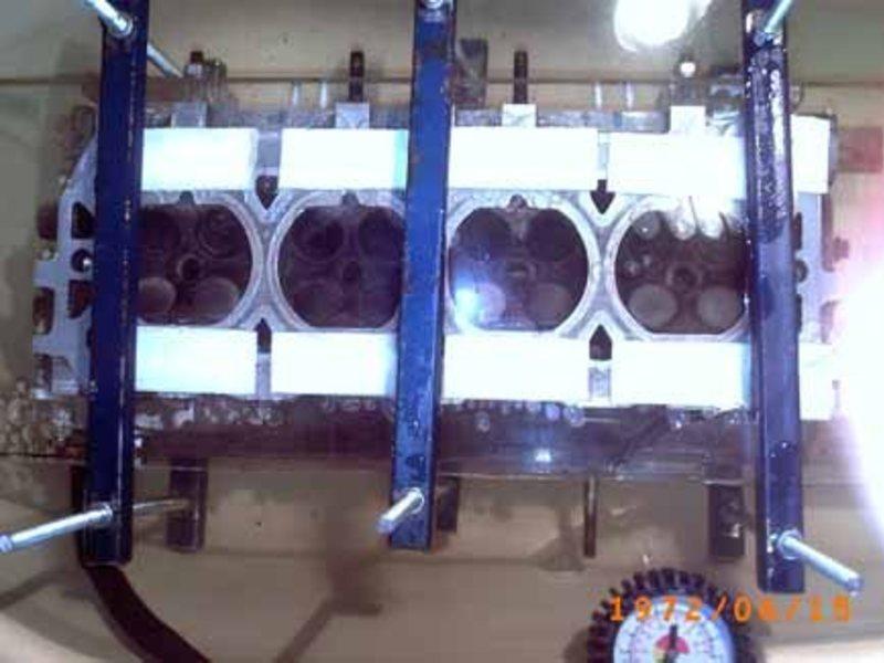 Опрессовка головки блока цилиндров своими руками 96