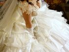 Фотография в   Продам пышное свадебное платье бежевого цвета, в Красноярске 25000