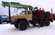 Лесовоз Урал дв, ЯМЗ-238 с новым манипулятором Атлант-С 90 в наличии