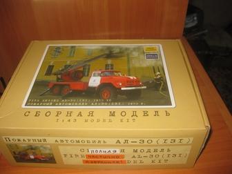 Уникальное фото Коллекционирование Зил 131 , (KIT SSM) , Новое, Сборная модель автолестницы  55842888 в Красноярске