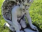 Новое фотографию  Скульптура из бетона Амур с книгой выс, 40 см, вес 30 кг, 38465691 в Москве