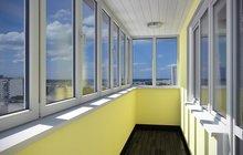 Остекление балконов под ключ, остекление лоджий