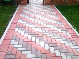 Свежее foto Строительные материалы Тротуарная плитка Брусчатка(кирпичик)вибропрессованная 34022911 в Кургане