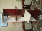 Уникальное фотографию  Полка угловая ЛДСП двух цветная ВЕНГЕСВЕТЛЫЙ-МАХАГОН 39744734 в Курске