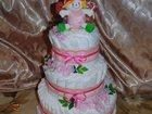 Смотреть изображение Товары для новорожденных ТОРТ ИЗ ПАМПЕРСОВ 33086976 в Липецке