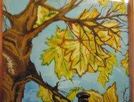 Картины продам Живопись картина осенний пейзаж размер 40/40 бумага гуашь картина