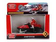 Снегоход Технопарк Цвет:красно-чёрный, сделан из металла и пластика, масштаб:1:4