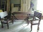 Столы и стулья широкие рустированые