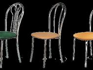 Магнитогорск: Кухонный стул, модель Венский Кухонный стул, модель Венский, каркас-черный, белый и металлик.   Элегантный дизайн, удобная посадка, эргономичная спи