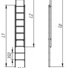 Лестницы стеклопластиковая ЛСПРД-7,0 Евро