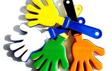 Ладошки-трещотки под нанесение логотипа оптом от 100 штук