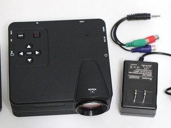 Новое изображение Другая техника Мультимедийный мини-проектор мод, H100 ( AV VGA SD USB HDMITV) 32624340 в Москве