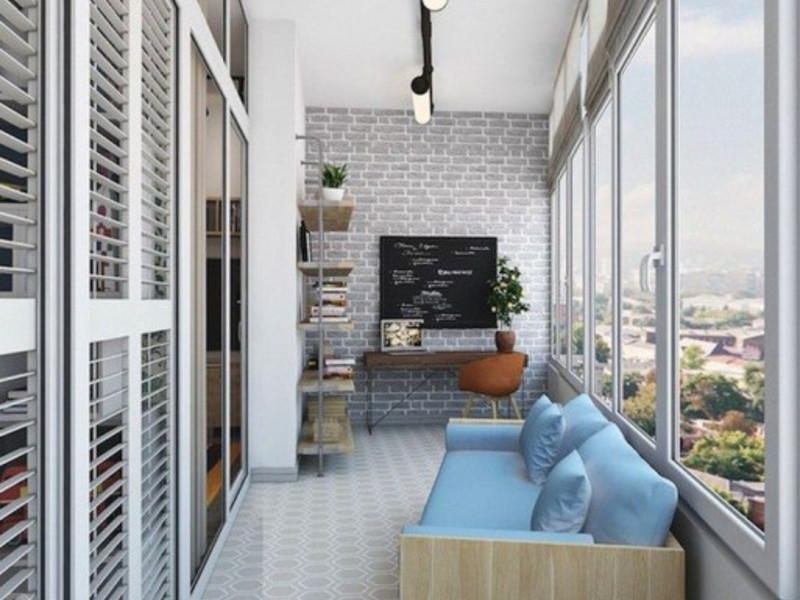 Как обустроить мини-кабинет на балконе или лоджии какие быва.