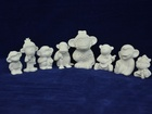 Новое фото Детские игрушки Гипсовые фигурки для раскрашивания Обезьянки 35244184 в Москве