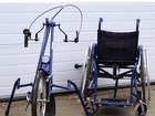 Смотреть фото  Инвалидная коляска с велоприставкой КСИ-1-2-3П Искра 35312148 в Москве