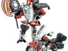 Просмотреть изображение Детские игрушки Робот собирается в мотоцикл, Транскар Harley-Davidson FLHRC RacingClassic 38588363 в Москве