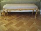 Увидеть фото Мягкая мебель Банкетка диванчик в золотой фольге отделка Angelo Cappelini 120х50см 38729084 в Москве